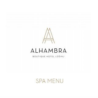 Boutique hotel Alhambra - Cube Spa menu