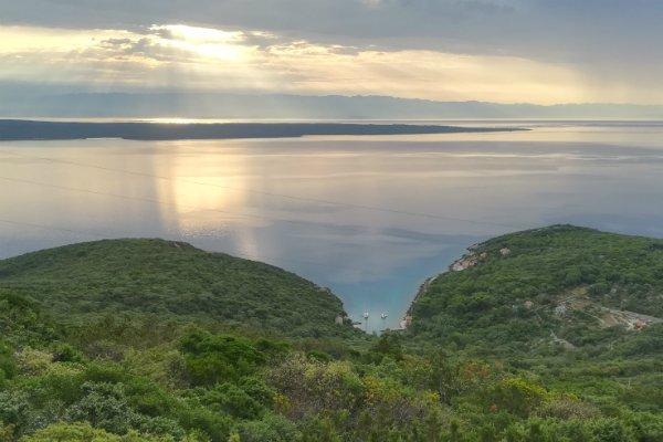 Blick vom Berg Osoršćica